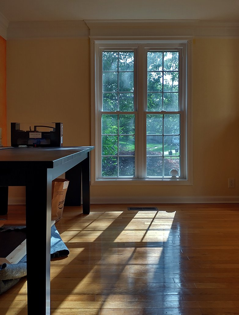 New House Tour dining room window view