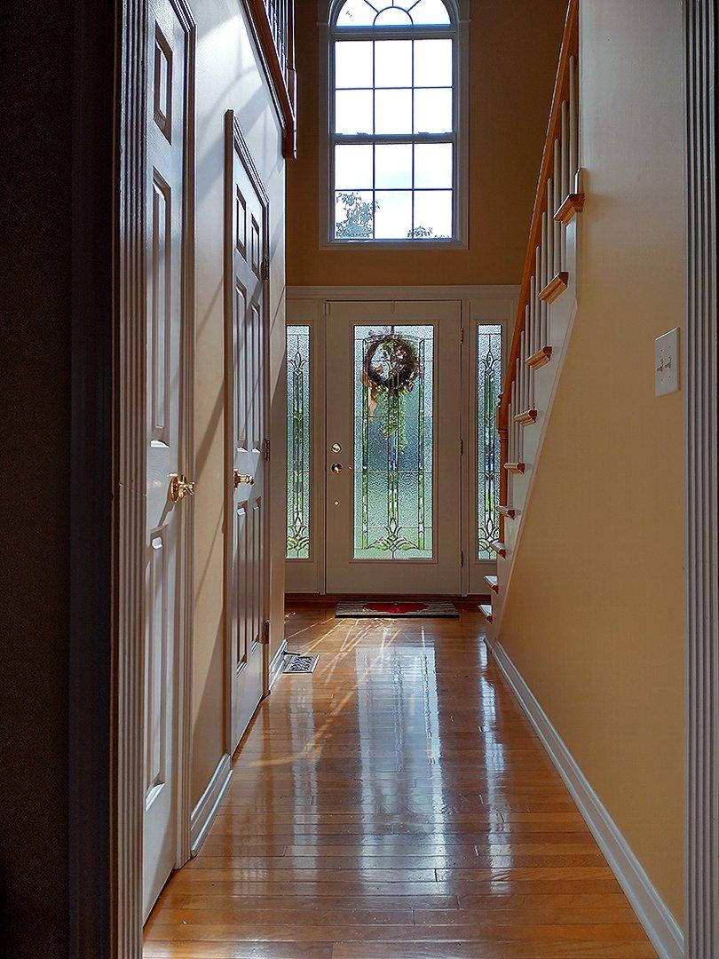 front hallway from entry door