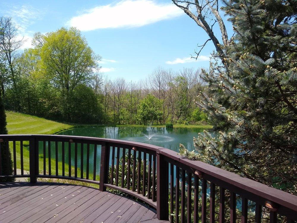 back deck pond view