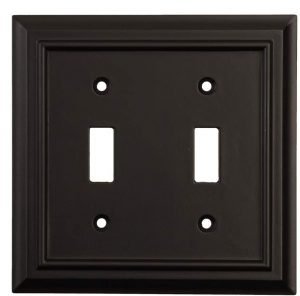 black switch plate