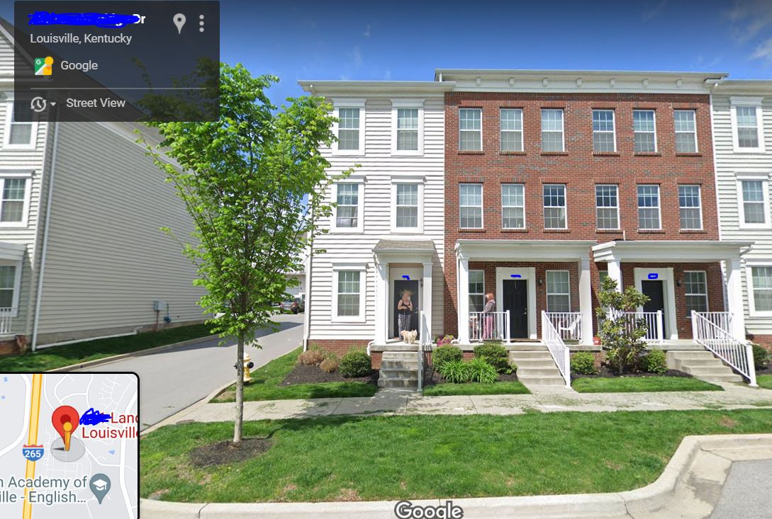 Google Street View with me and neighbor