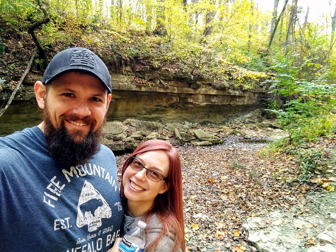 Greg and Amy hiking in Kentucky