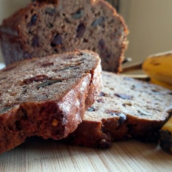 moist banana bread with banana