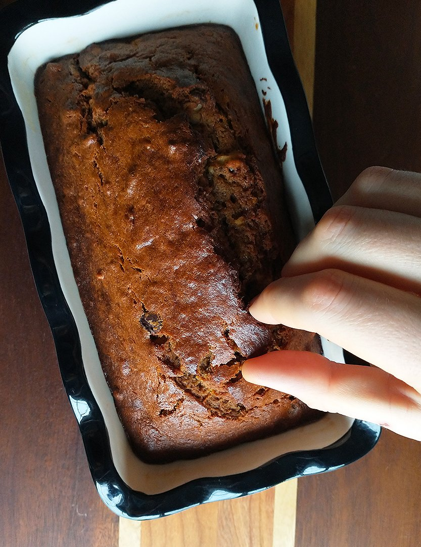 perfect banana bread recipe result is family stealing crumbs before photoshoot is over